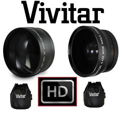 PRO HD WIDE ANGLE & TELEPHOTO LENS for SONY DSLR-A390L DSLR-A390