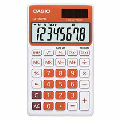 Calculator Casio, SL 300 NC, orange