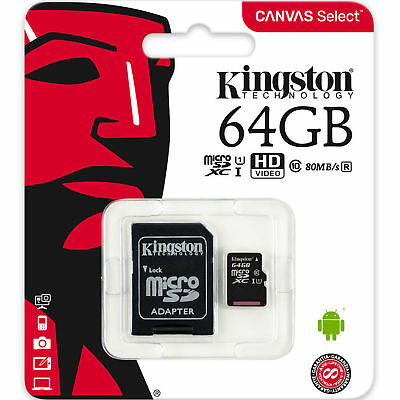 Kingston Micro Sd 64 Gb Class 10 Microsd Scheda Memoria