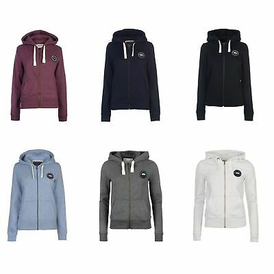 SoulCal Signature Zip Hoodie Ladies Drawstring Hooded Top Outerwear