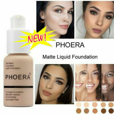 PHOER Foundation Liquid Concealer Long Lasting HD High Cover Makeup New HOT