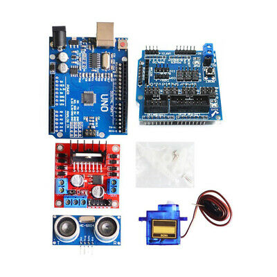 Avoid Tracking Robot DIY Kit Car Ultrasonic With switch Smart Chassis Latest