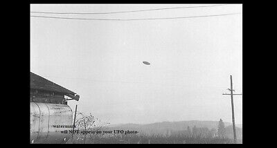 1950 UFO Flying Saucer PHOTO Oregon Sighting, Space Aliens DAYLIGHT DISC