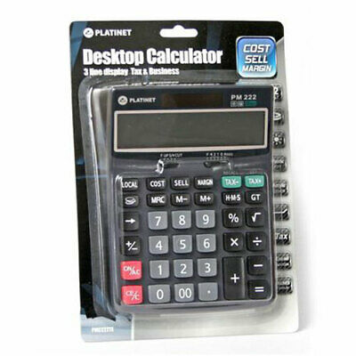 Calculatrice PM222te Taxes, 3 lignes d'affichage
