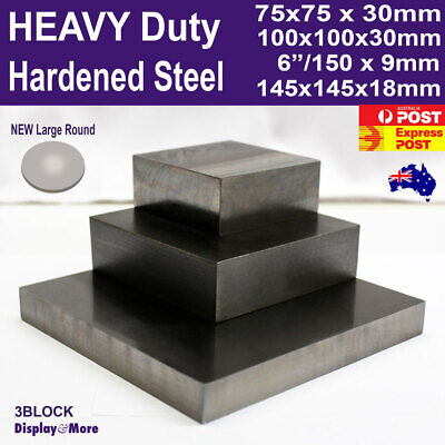 Bench Block Steel Metal HARDENED | Jewellers Tool Making Repair | AUSSIE Seller