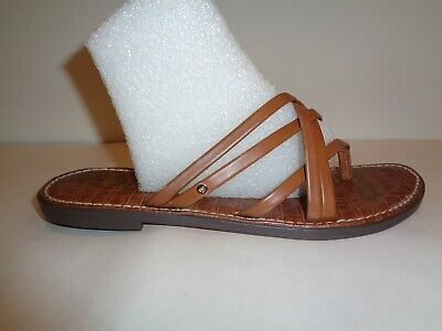 24dc5b7648ff Sam Edelman Size 8.5 M GEORGETTE Saddle Brown Strappy Sandals New Womens  Shoes