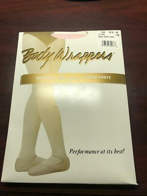 Capezio 3C Child/'s Size Large Suntan Seamless Footed Tights