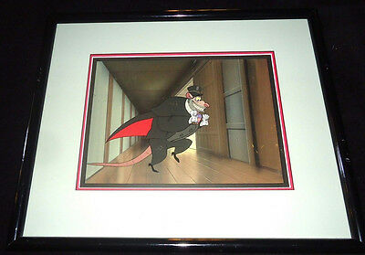 Great Mouse Detective Ratigan Production Cel AND Background Disney 1986 See desc