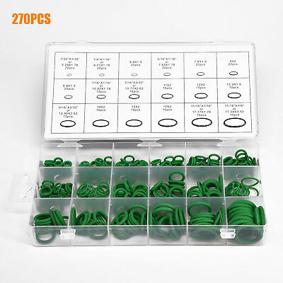 270pcs 18Size Auto Car Kit Air Conditioning A/C Repair HNBR Rubber O-Ring Seal