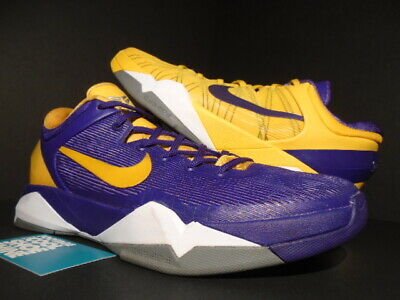 check out ca8ee f3961 Nike Zoom Kobe Vii 7 System Yin   Yang Lakers Purple Gold White 488371-501