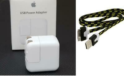Original OEM 12W USB Power Adapter Wall Charger for Apple iPad 2 3 + USB Cable