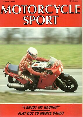 1989 FEBRUARY 31222 Motorcycle Sport Magazine  FLAT OUT TO MONTE CARLO