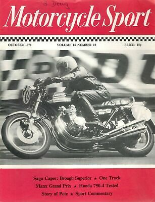 1974 OCTOBER 29021  Motorcycle Sport  MANX GRAND PRIX *  STORY OF PETE