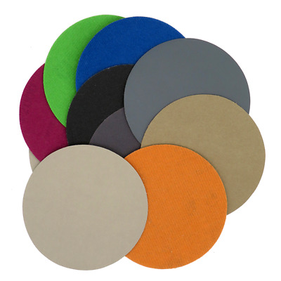 "10pcs 4"" Wet and Dry Sandpaper Hook and Loop Sanding Discs 60-10000 Grit Polish"