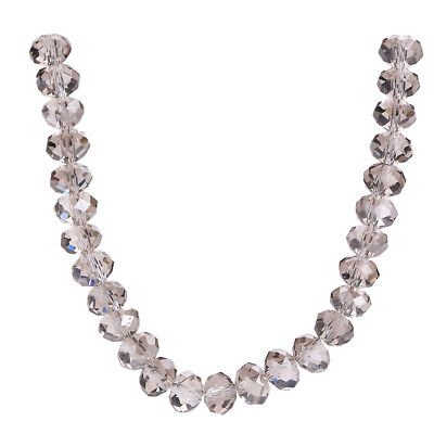 Charms 18mm Faceted 10PCS Glass Crystal Loose Rondelle Beads Findings Clear Gray