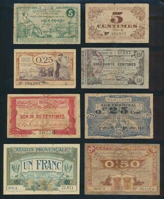 "France: LOCAL ISSUES WWI 1915-1920 Historic Collection 20 Different ""BON POURS"""