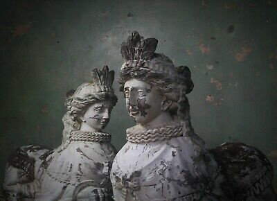 Entrance Guardians, Neoclassical Carved Wooden Sphinxes Architectural Salvage