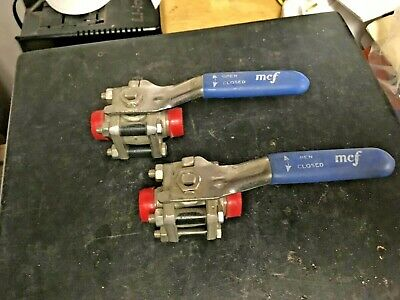 "MCF 1/2""  forged stainless steel ball valves SST 66 HT FB,  Plug type weld"