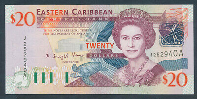 "East Caribbean States: ANTIGUA 2003 $20 ""QEII PORTRAIT"". Pick 44a UNC Cat $83+"
