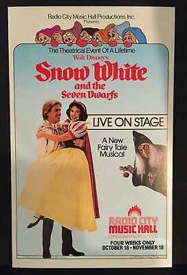 Broadway Theatre Poster - Snow White And The Seven Dwarfs-Radio City Music Hall