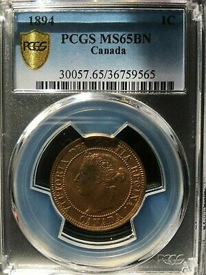 **1894**PCGS Graded Canadian, Large One Cent, **MS-65**
