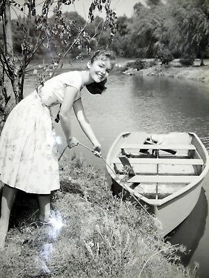 Rare Vintage Tuesday Weld @ 14 YOUTHFUL BEAUTY 50s Publicity Photograph Row BOAT