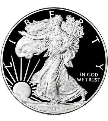 2019 W Proof Silver Eagle One 1 Ounce Silver Dollar Coa Box West Point Mint Mark