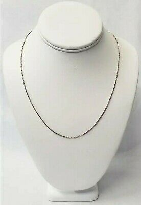 """925 Sterling Silver Chain Necklace 19"""""""