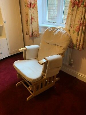 Baby Weavers reclining glider nursery chair and stool