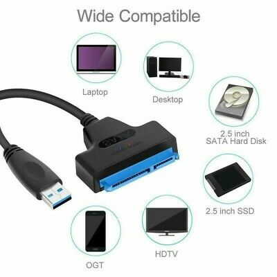 USB 3.0 to 2.5 inch SATA 22 Pin III HDD SSD Hard drive disk power Adapter cable