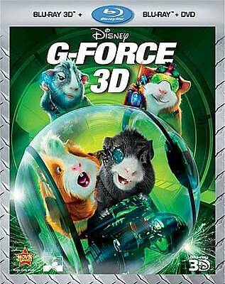 G-Force (Blu-ray/DVD 2011 3-Disc Set 3D/2D Lenticular Slipcover New and Sealed
