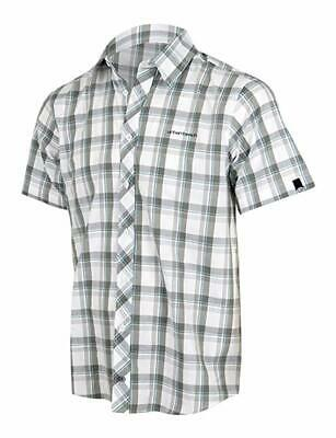 fa48b69184a4 Urban Beach Mens Casual Short Sleeved Checked White Summer Button Up Shirt