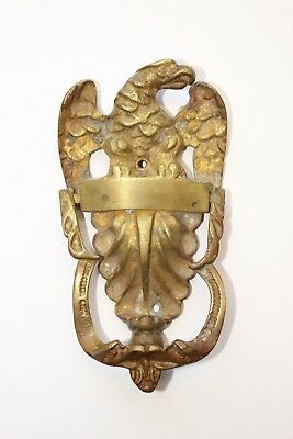 "Estate Vintage Antique 3 1/2"" X 6 3/4"" Brass England Eagle Door Knocker!"