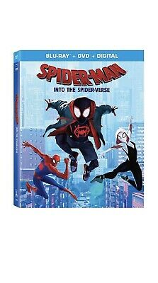spider-man: into the spider-verse ( Blu-ray + DVD) With Digital Code Brand New !