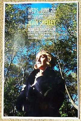 JOAN SHELLEY 2018 Gig POSTER Portland Oregon Concert
