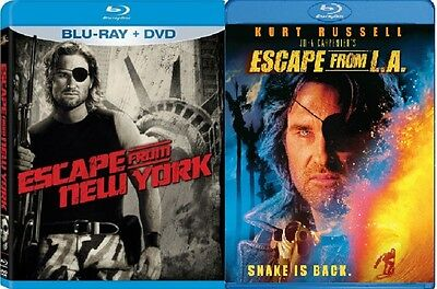 Escape from New York & Escape From LA  (Blu Ray, Widescreen) Kurt Russell NEW