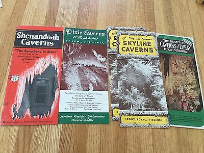 Vintage lot 1950-1960 era Virginia travel brochures of the Caverns