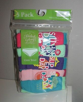Girls 5 PACK Printed Cotton Briefs (Size 4) BRAND NEW IN PACKAGE