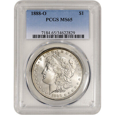 1888-O US Morgan Silver Dollar $1 - PCGS MS65