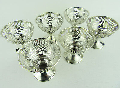 Set Of 6 Antique Sterling Silver Dessert Cup Holders Frank M Whiting & Co #6583