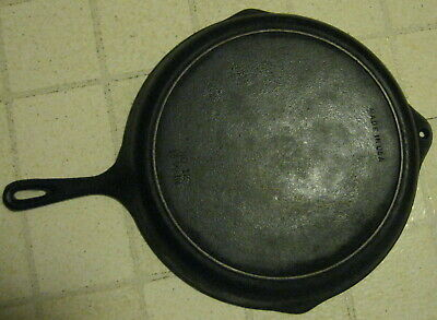 "Vintage LARGE ANTIQUE 13 7/16""  NO 12 CAST IRON SKILLET HEAT RING ,USA pan"