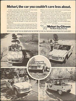 1969-Vintage ad for Mehari by Citroen, Automobile, Car Photos (041215)