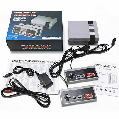 Retro NES Entertainment Game Console with 620 Classic Games Mario+2 Controllers