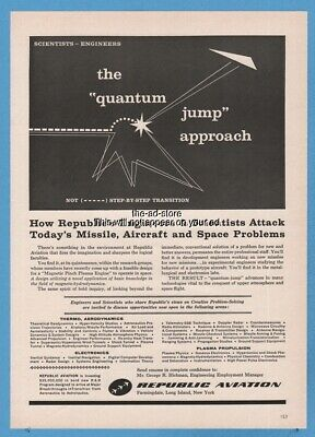 Search For Flights Republic Aviation Hothouse Moon Lunar Plant Growth Bill Taufman 1959 Vintage Ad 1950-59 Advertising-print