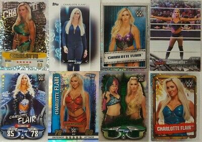 WWE  CHARLOTTE FLAIR  trading Card  LOT US + UK no doubles