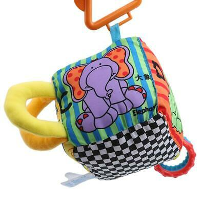 Baby Newborn Soft Cloth Building Blocks Bell Rattle Cubes Animal Hanging Toy LC