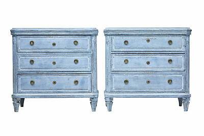 Pair Of 19Th Century Swedish Painted Commodes