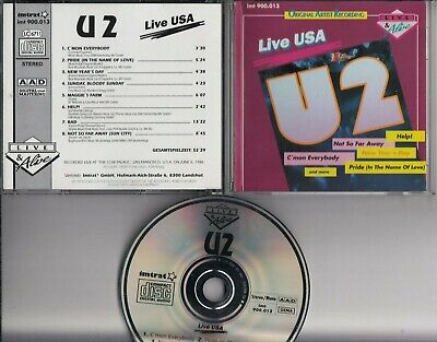 U2 Live USA Recorded At The Cow Palace San Francisco USA 1986 CD IMTRAT