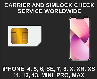 Carrier, Network, Simlock Status Check Service, iPhone, iPad All Models, Fast Ch