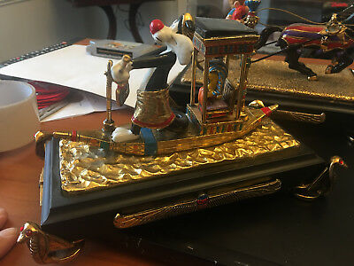 Ron Lee Statue Figure Signed  363/500 Sylvestor Cruising Down The Nile Wb